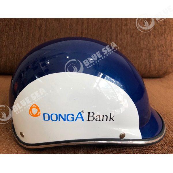 Mũ bảo hiểm in logo quảng cáo ngân hàng Đông Á Bank
